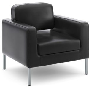 Hon Soft Thread Leather Lounge Chair