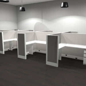 """Project #6 - Uni-T Workstations with 66""""High Panels"""