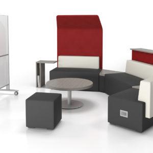 Modular Seating with Mobile Whiteboard